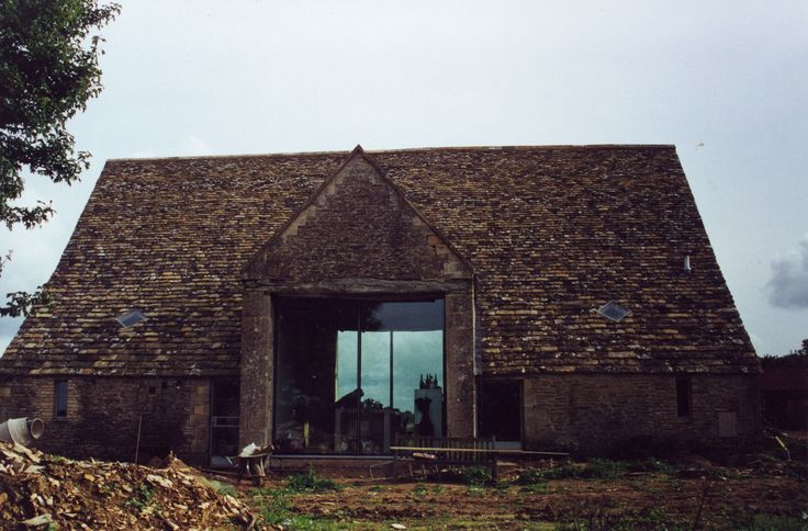 Inline sliders intervention to english barn Charles Barclay Architects http://cbarchitects.co.uk