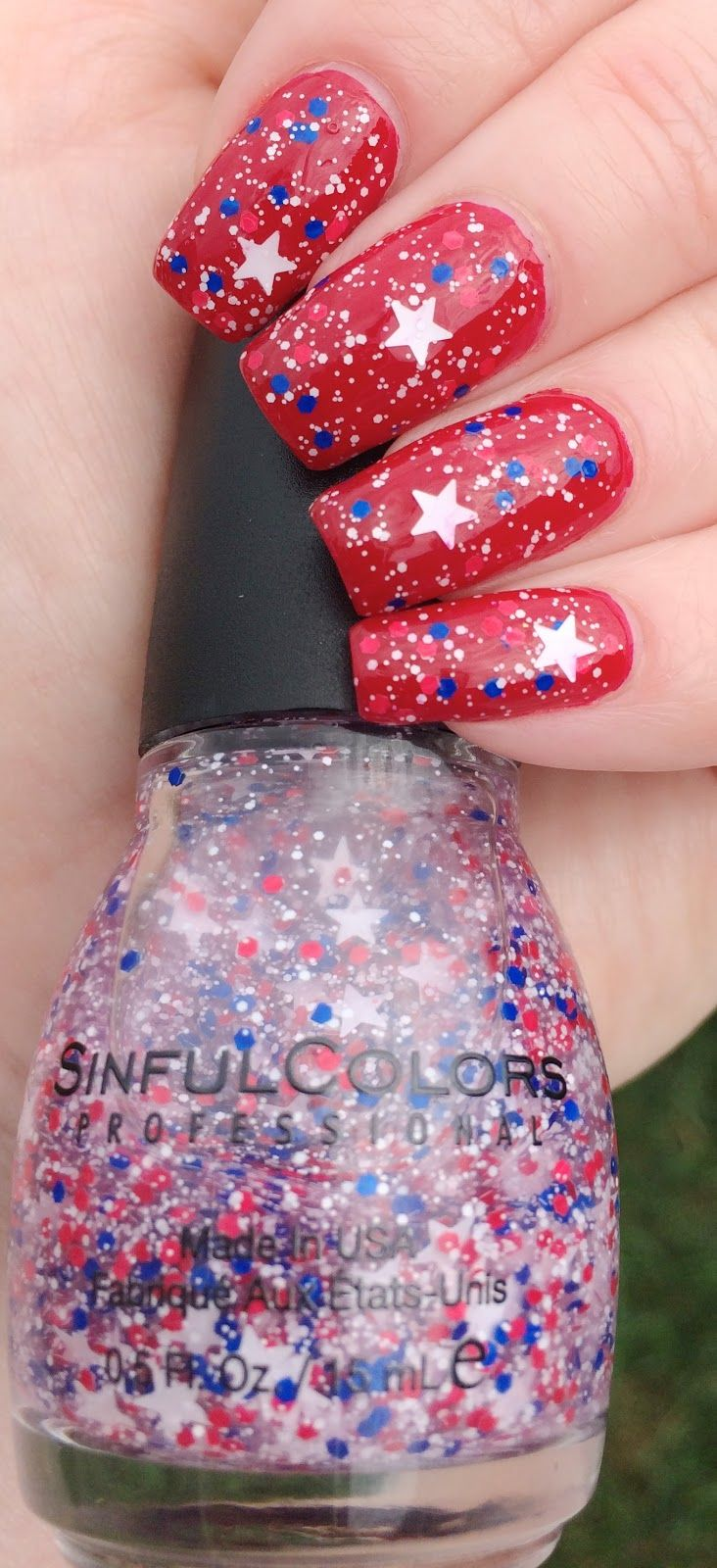 4th of July Manicure - Sinful Colors Star Blast Off