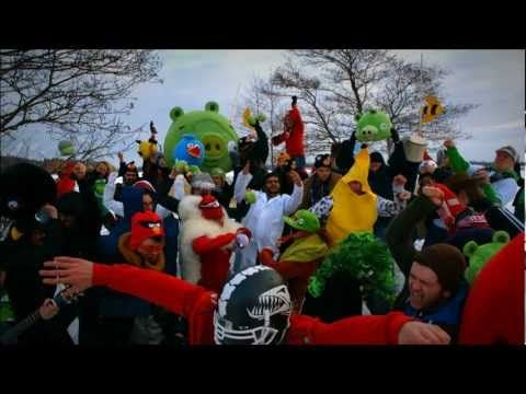 Harlem Shake de Angry Birds: Harlem Shakes, Billion View, Youtube View, Animal Studios, Rovio Harlem, Camera, Rovio Celebra, Billion Youtube, Angry Birds