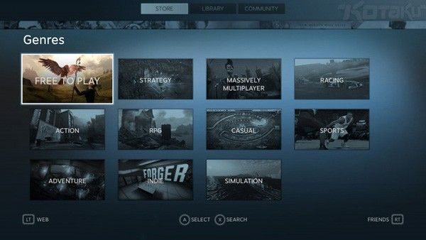 Valve launching Steam Big Picture Mode later today, look at its snappy UI right now