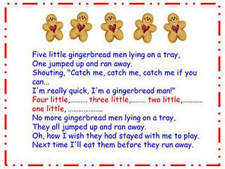 Free Printable Gingerbread Man Songs  - - Pinned by @PediaStaff – Please visit http://ht.ly/63sNt for all (hundreds of) our pediatric therapy pins