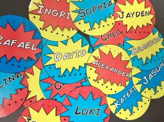 Superhero Themed Name Tag Labels!  Gotta have it for any superhero classroom!