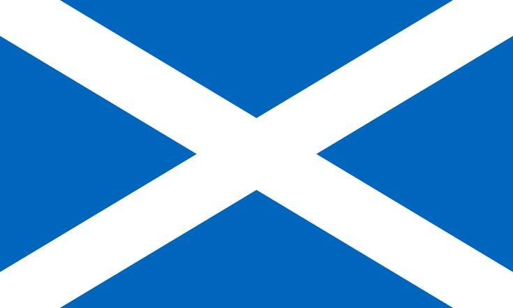 Flag of Scotland. Name: St Andrew's Cross The Saltire UseCivil and State Flag
