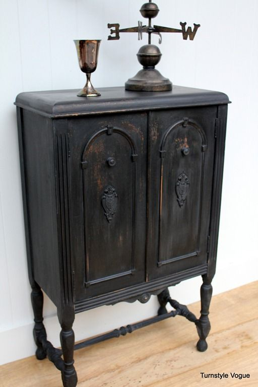 Black Antique Furniture 161 best black painted furniture images on pinterest | painted
