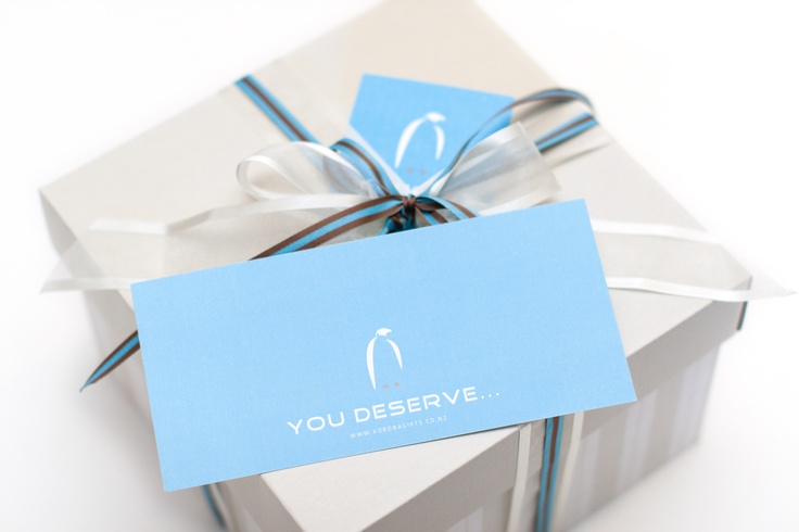 Korora Gifts packaging and accompanying gift cards
