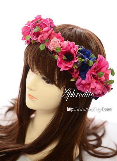 「鮮やかピンクの花冠」アネモネ&イングリッシュローズ