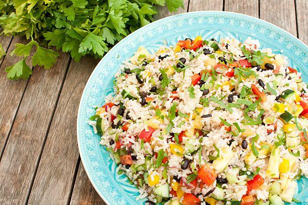 Jamaicaanse rijstsalade