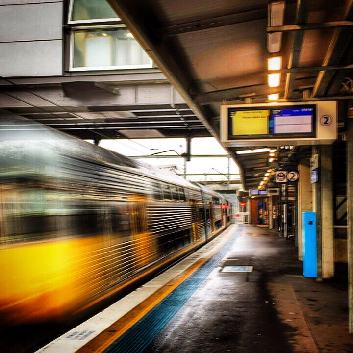 Testing out the SlowShutter app... At the Seven Hills Station, NSW, Australia...