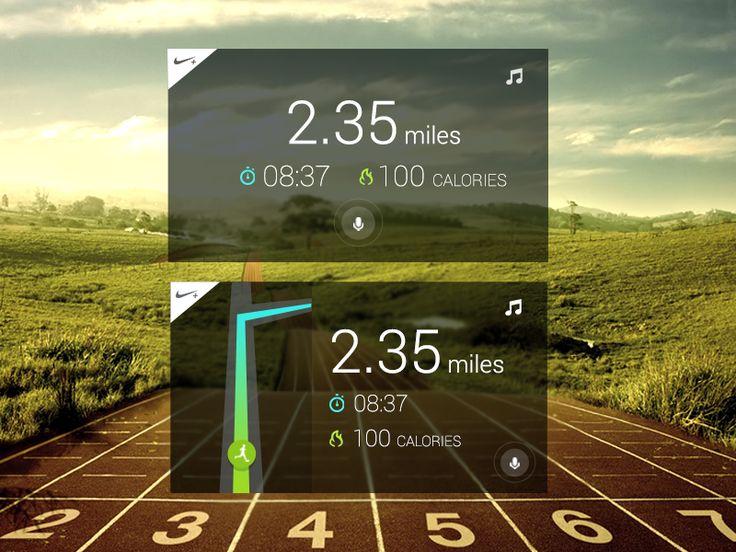 Nike+ for Google Glass