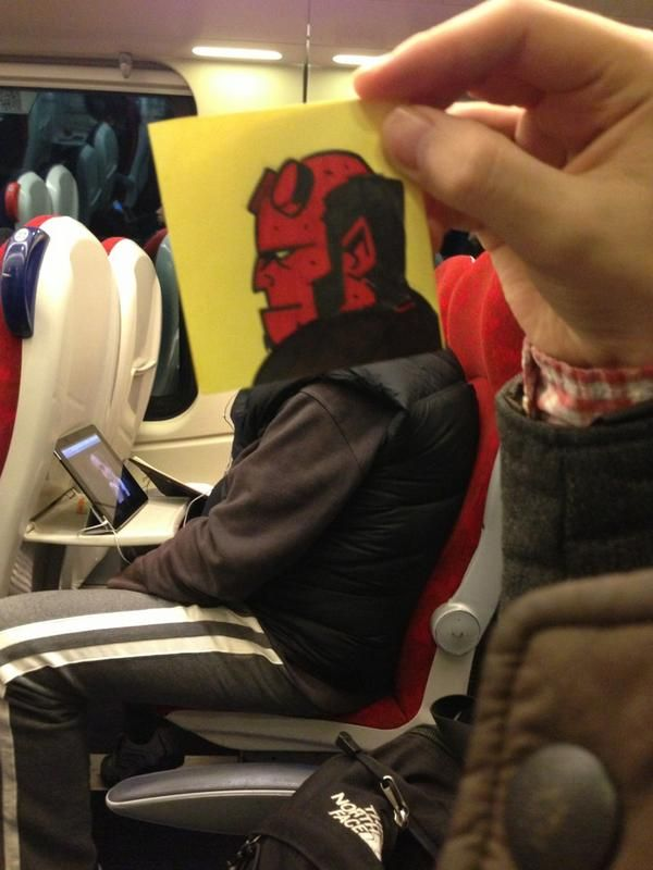 This Guy Has An Ingenious Solution For Avoiding Boredom On The Train