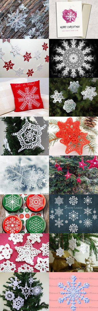 Snowflakes by Anna Margaritou on Etsy--Pinned with TreasuryPin.com