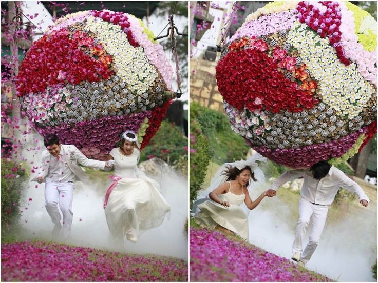 Valentine's Day around the world: From the attack of a giant flower ball to the longest kiss