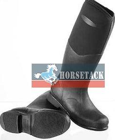 Muck Boots Tyne black  Dieser Stiefel eignet sich hervorragend für den Reitsport! Durch eine Schafthöhe von ca. 50cm macht er nicht nur am Boden eine gute Figur, sondern kann auch auf dem Pferd genutzt werden.  - 100% wasserdicht   - 5mm dickes Neopren   - Nitracel-Fußbett   - kälteresistent bis -20°C