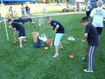 halloween games relay races