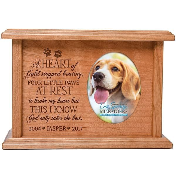 Cremation Urns for Pets SMALL Memorial Keepsake box for Dogs and Cats