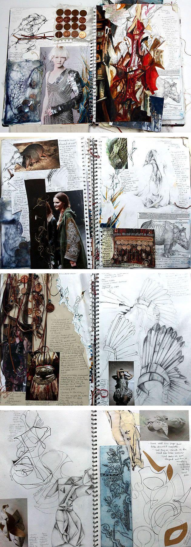 A'Level Textile Sketchbook
