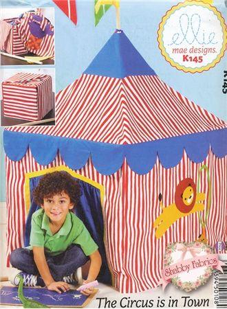 The Circus is in Town Pattern Create a darling slipcover for your card table that looks like a circus tent! Kids will love this fort!  sc 1 st  Pinterest : table tents for kids - memphite.com