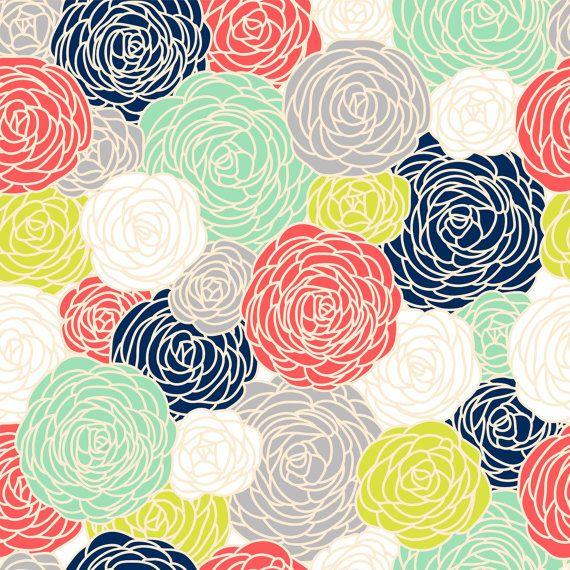 Removable Wallpaper Blossom Print Multi by GailWrightatHome