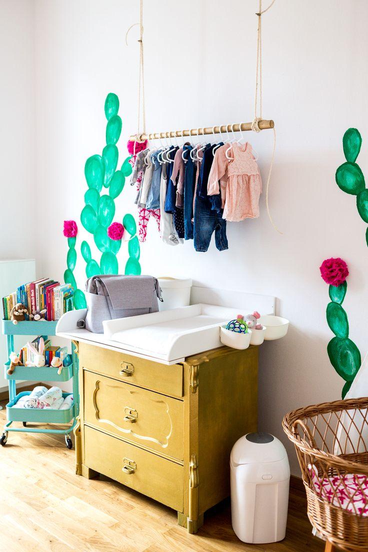Kaktus Kinderzimmer Boho Ethno Kakteen Wickelkommode Gold