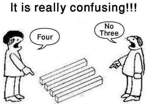 Perspectives. We often have a different one. They might both be correct.
