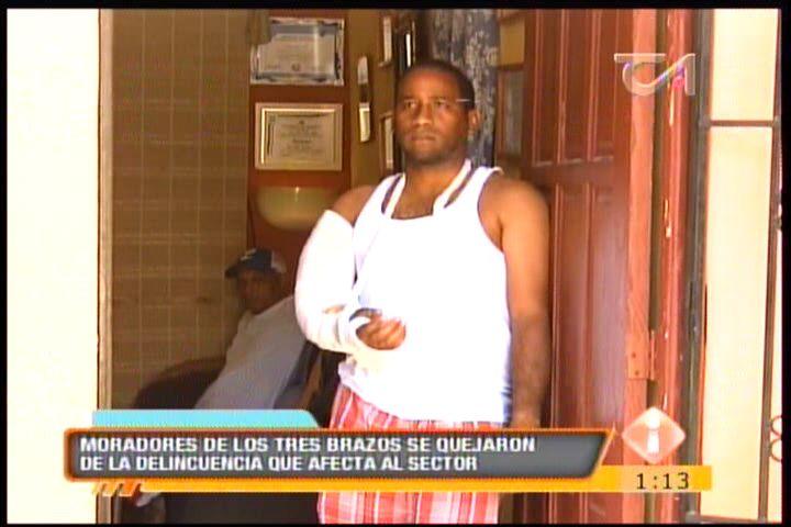 Moradores De Los Tres Brazos Se Quejaron De La Delincuencia Que Afecta Al Sector #Video