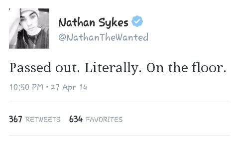 Nathan after being rweeted by one of the members of boyz2men