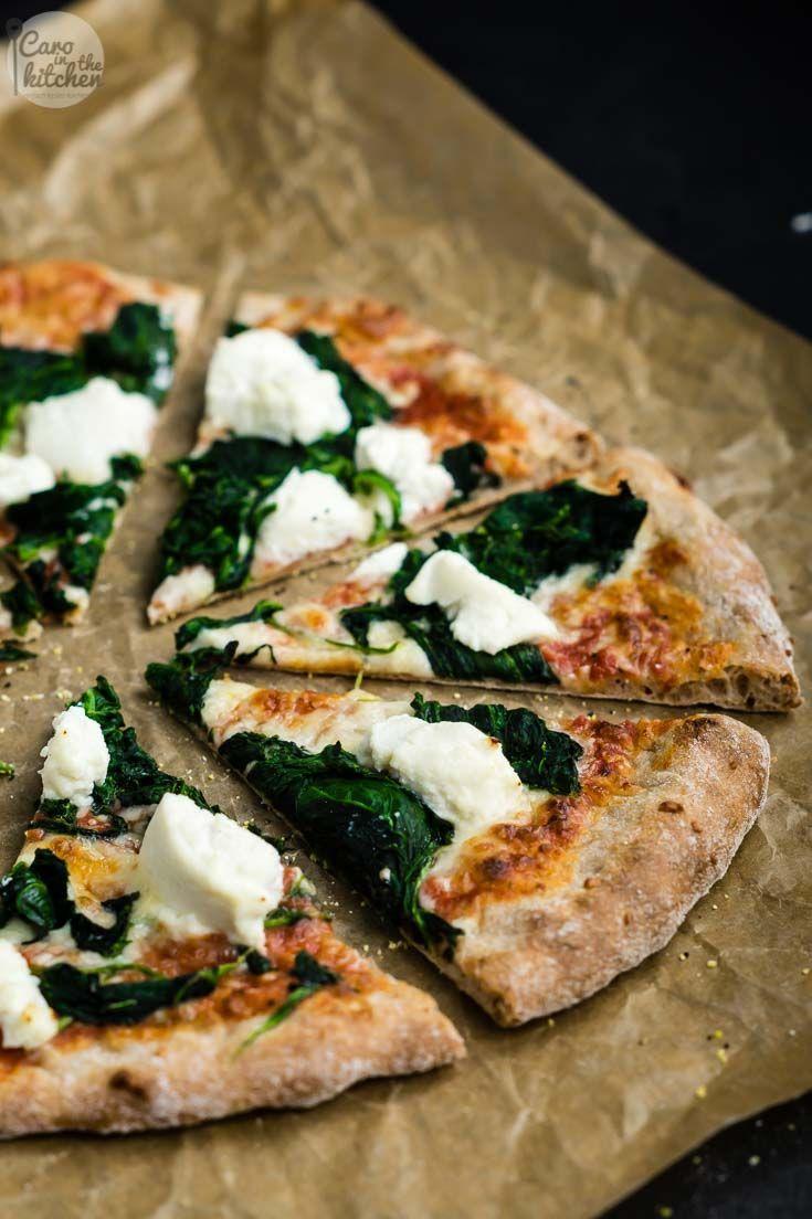 Grundrezept für super einfachen No-Knead Dinkelvollkorn Pizzateig | #cleaneating #clean #vegan #vegetarisch #vegetarian #rezept #recipe
