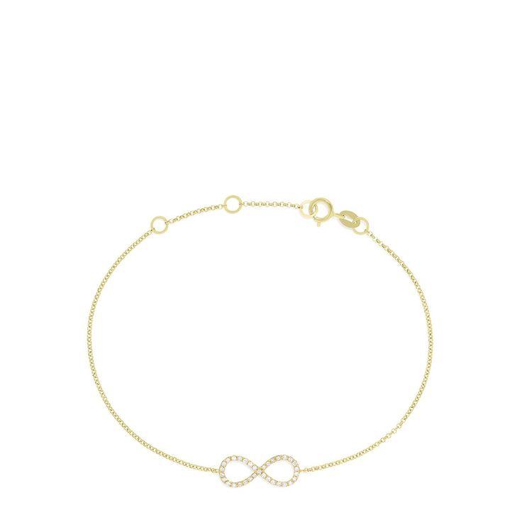 Effy Novelty 14K Yellow Gold Diamond Infinity Bracelet, 0.12 TCW - Bracelets - Women