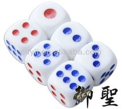 White Game Dice With Colored Dots - Buy Dice For Games,Dice ...