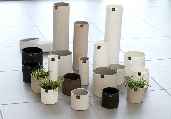 Ghiveci Cylinder Negru