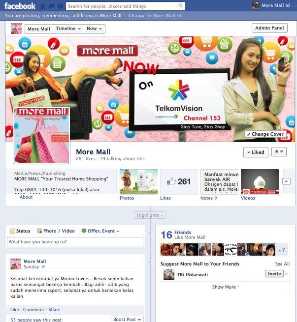 Maintain Social Media on PT More Mall