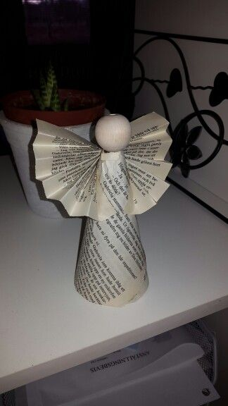 Angel made by book paper