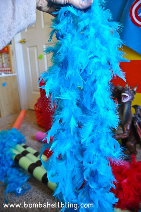 how to make truffula trees with pool noodles