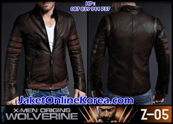 jual-jas-blazer-jaket-korea-murah-online-(Z-05)-Kulit X-Men-Origins-Wolverine