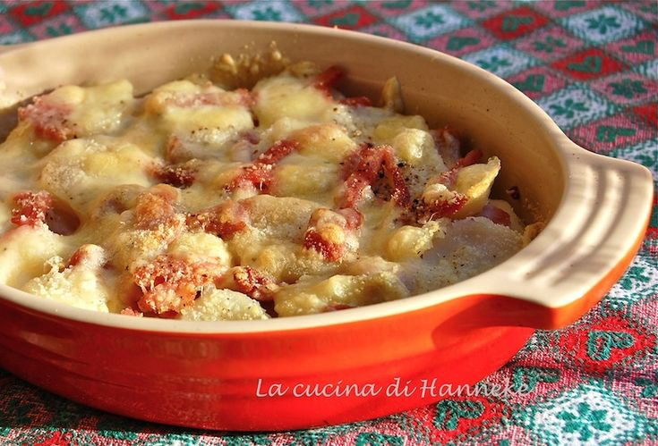 torta di patate, fontina e prosciutto cotto