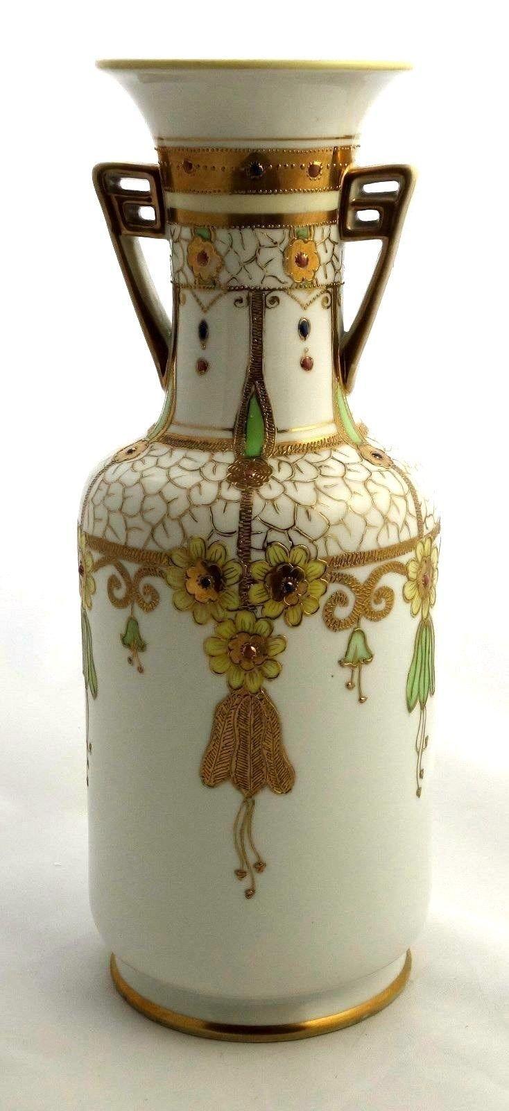 122 best noritake images on pinterest noritake porcelain and noritake morimura nippon art deco gold hand painted moriage 11 handled vase reviewsmspy