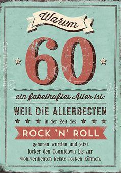 Warum 60 ein fabelhaftes Alter ist: - Doppelkarten - Grafik Werkstatt Bielefeld