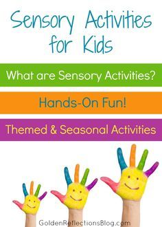 A list of sensory activities for children from an Occupational Therapy Assistant and homeschool mom blogger! | www.GoldenReflectionsBlog.com Repinned by SOS Inc. Resources pinterest.com/sostherapy/.