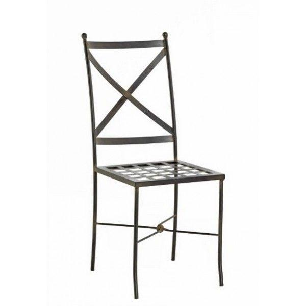 Silla de forja country - sillas para comedor