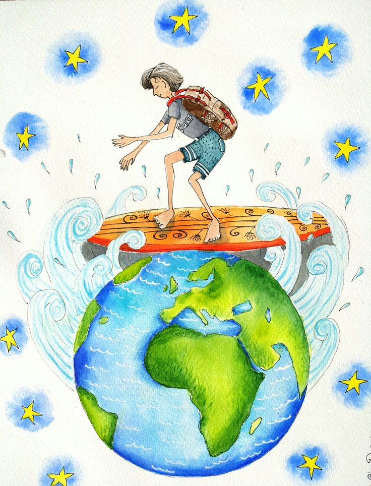 Son on OE... By Shelley Wilson. #whimsical #illustration #colourful #painting #watercolour #whimsy