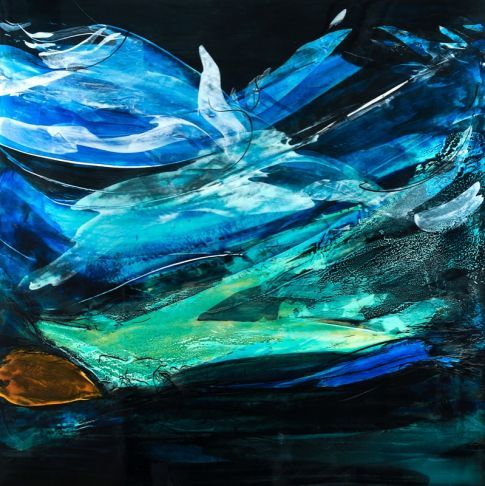 Louis Laprise - Turquoise, bleu et blanc