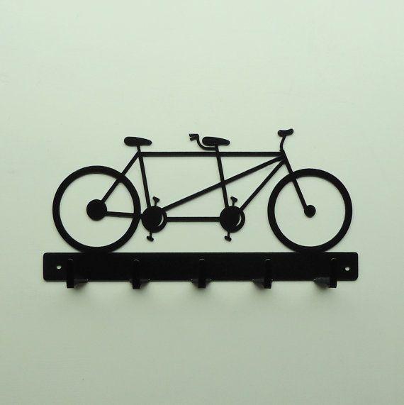 Tandem Bicycle Metal Art Key Rack  Free USA by KnobCreekMetalArts, $29.99