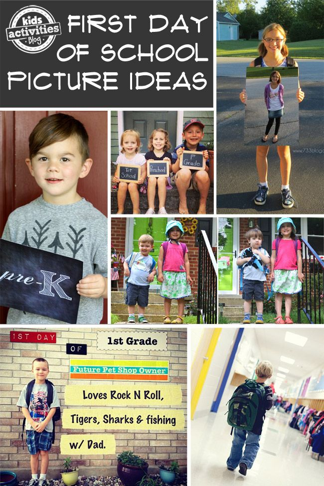 Love this! 15 Ideas for Adorable First Day of School Pictures - Kids Activities Blog