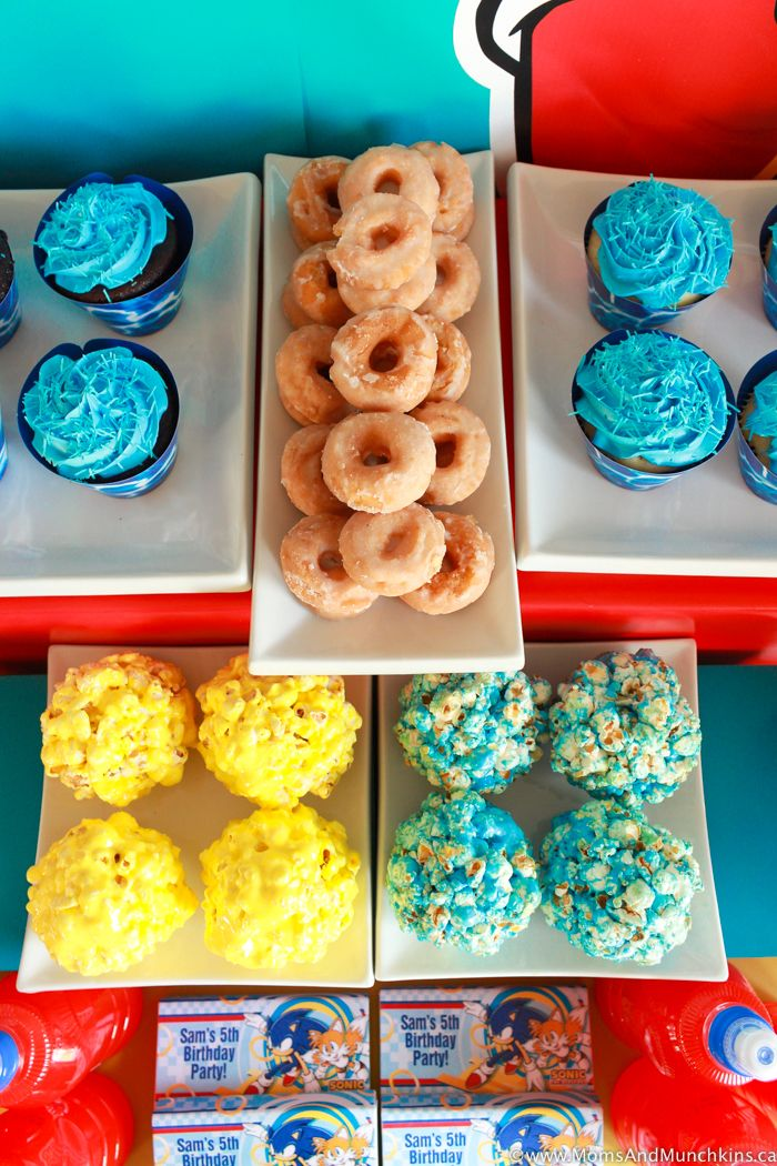 Sonic The Hedgehog Party Ideas Moms Munchkins Sonic Birthday Sonic Birthday Parties Sonic Party