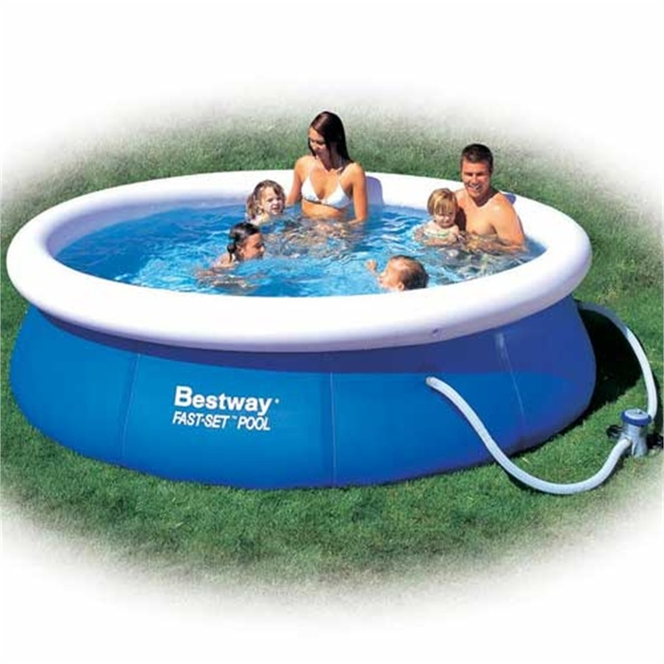 Bestway fast set pool 10 39 garden paddling pools for Garden paddling pools