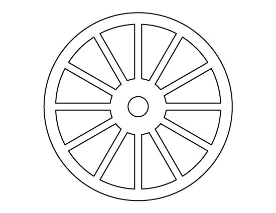 Wheel pattern. Use the printable outline for crafts