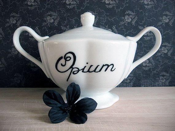 Decorative Bowl  Victorian Inspired  Opium by BurkeHareCo on Etsy