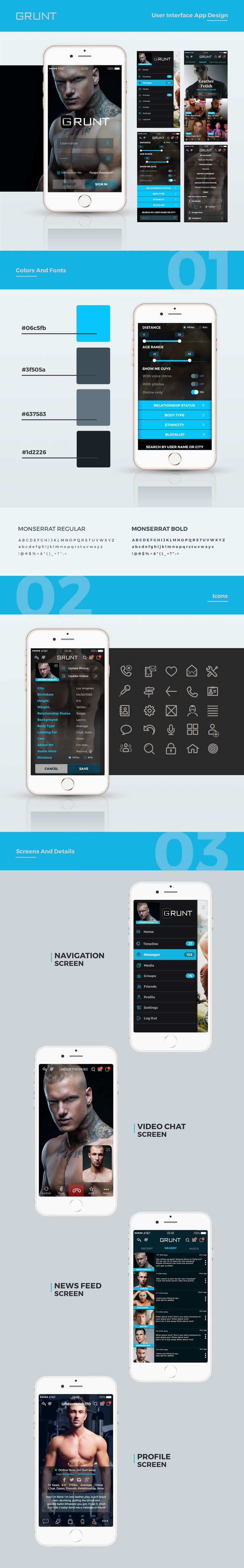 check out my behance project grunt user interface app design httpswww behance netgallery49964215grunt user interface app design pinterest