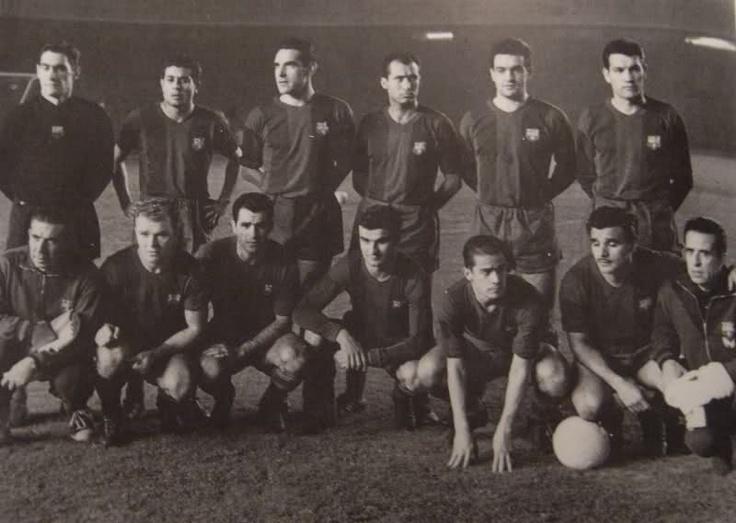 1960: Barcelona. Ramallets, Olivella, Garay, Gràcia, Vergés, Segarra, Kubala, Evaristo, Kocsis, Suárez , Villaverde.