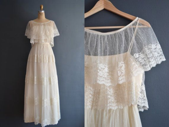 70s wedding dress / 1970s wedding dress / Ruby by BreanneFaouzi, $198.00
